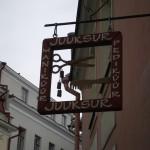 Dieses Tallinner Friörschild war einfach zu schön, um es euch vorzuenthalten.